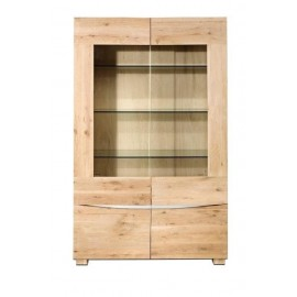 VITRINA 4P KIT 112X42X180CM.ROBLE BLANCO CERA  **DTO.30%***MUEBLE KIT*