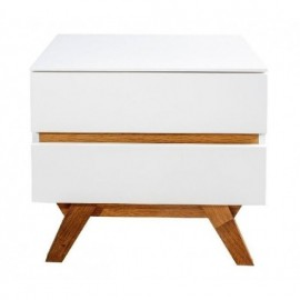 MESITA 2C KIT 50X40X45CM.ROBLE/BLANCO MATE  **DTO.30%***MUEBLE KIT*