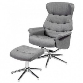 SILLON C/REPOSAPIES T.111-GRIS  **DTO.30%**